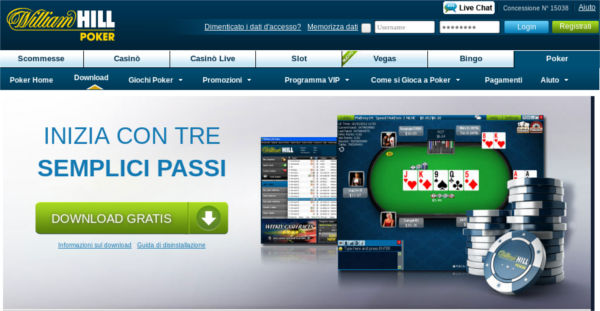 Il poker di William Hill